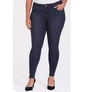 Torrid Premium Luxe Skinny Dark Wash Jeans 24S